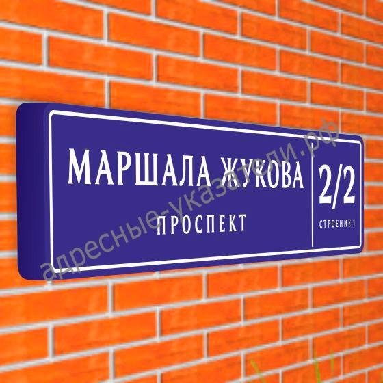 Магистральный совмещенный указатель «Название улицы и номер дома» ДУ-М-С 1900х475 мм