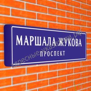 Магистральный указатель «Название улицы» ДУ-М-У 1900х475 мм