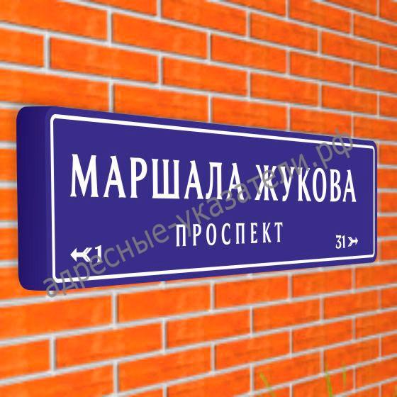 Магистральный указатель «Название улицы» с пиктограммами ДУ-М-У 1900х475 мм